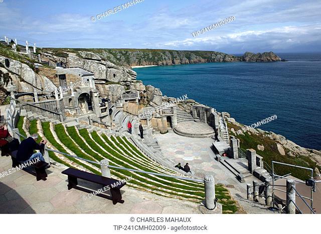 England, Cornwall, near Porthcurno, open-air Minack Theatre