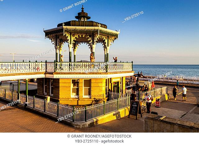 The Victorian Bandstand On Brighton Seafront, Brighton, Sussex, UK