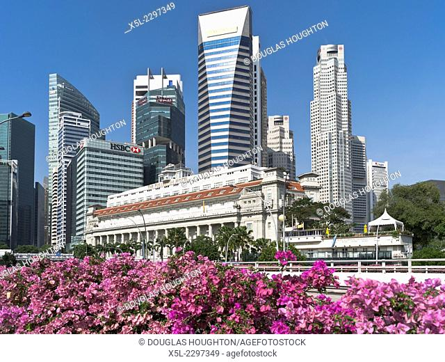 DOWNTOWN CORE SINGAPORE The Fullerton Hotel flowers Maybank