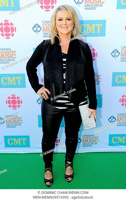 The 2016 Canadian Country Music Association Awards Green Carpet arrival at the Budweiser Gardens. Featuring: Carolyn Dawn Johnson Where: London