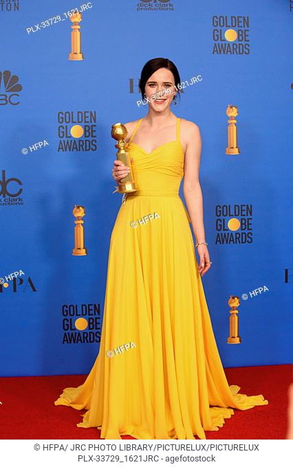 """After winning the category of BEST PERFORMANCE BY AN ACTRESS IN A TELEVISION SERIES – MUSICAL OR COMEDY for her role in """"""""The Marvelous Mrs"""
