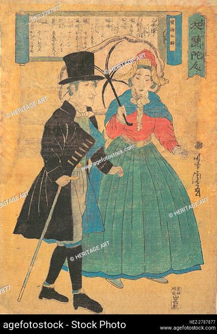 A Dutch Couple, 1863 (Bunkyu 3). Creator: Utagawa Yoshitora