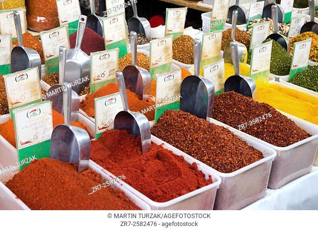 Herbs and spices, Mahane Yehuda Market, Jerusalem, Israel
