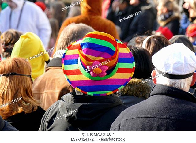 Carnivalist with colorful hat
