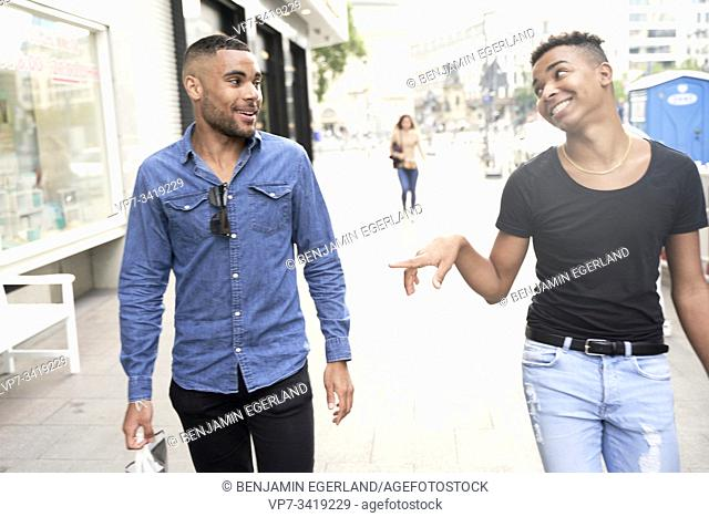 Gay couple. Frankfrut am Main, Germany