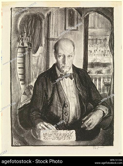 Self-Portrait. Artist: George Bellows (American, Columbus, Ohio 1882-1925 New York); Publisher: Published by George Bellows (American, Columbus