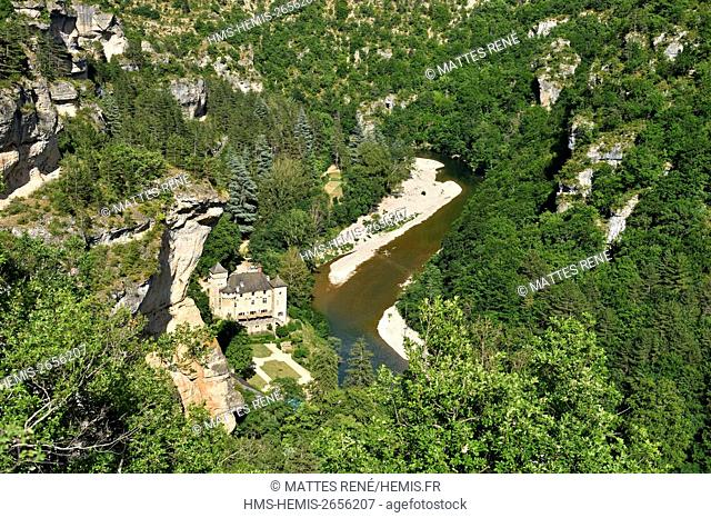 France, Lozere, the Causses and the Cevennes, Mediterranean agro pastoral cultural landscape, listed as World Heritage by UNESCO, La Malene, Gorges du Tarn
