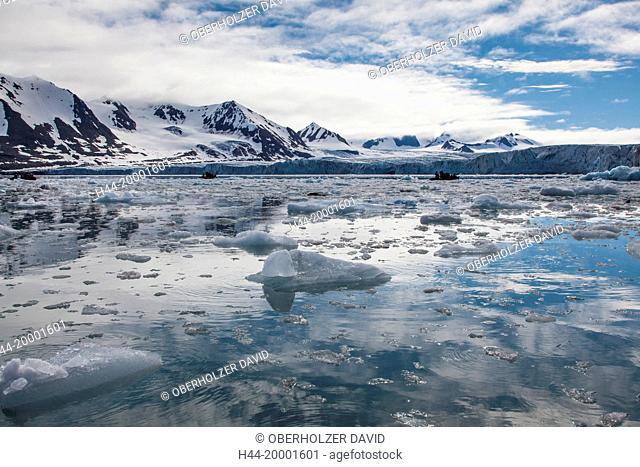 Spitsbergen, Svalbard, pack ice, Hornsund