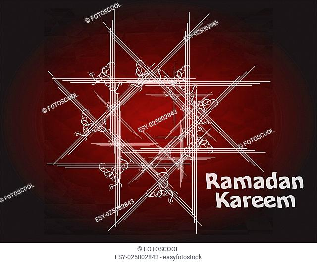 Beautiful red color Ramadan Kareem background design