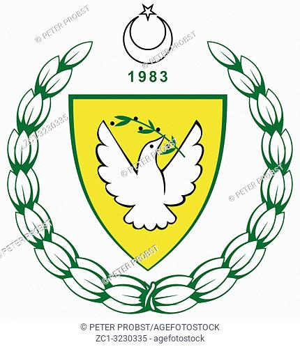 Coat of arms of the Turkish Republic of Northern Cyprus TRNC - North Cyprus