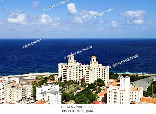 Ornate Hotel Nacional near ocean