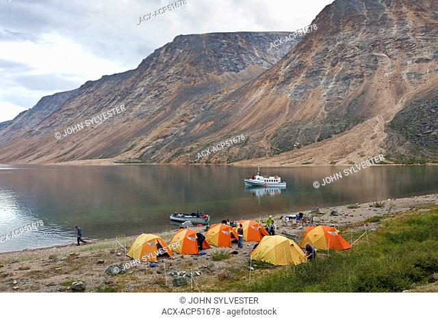 campsite at North Arm, Saglek Fiord, Torngat Mountains National Park, Labrador, Canada