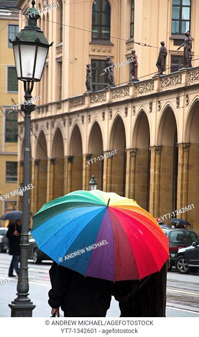 Munich in the rain Maximilianstrasse, Germany