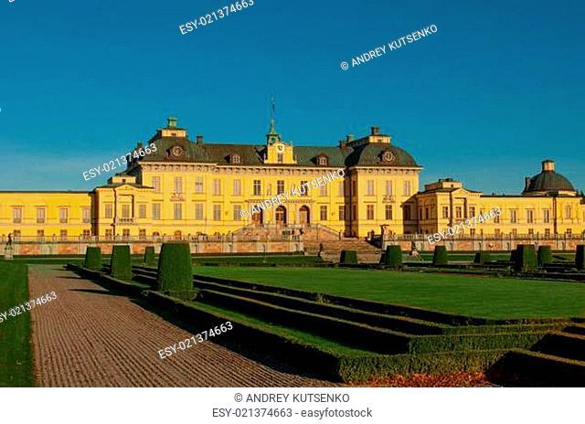 Drottningholms slott (royal palace) outside of Stockholm, Sweden