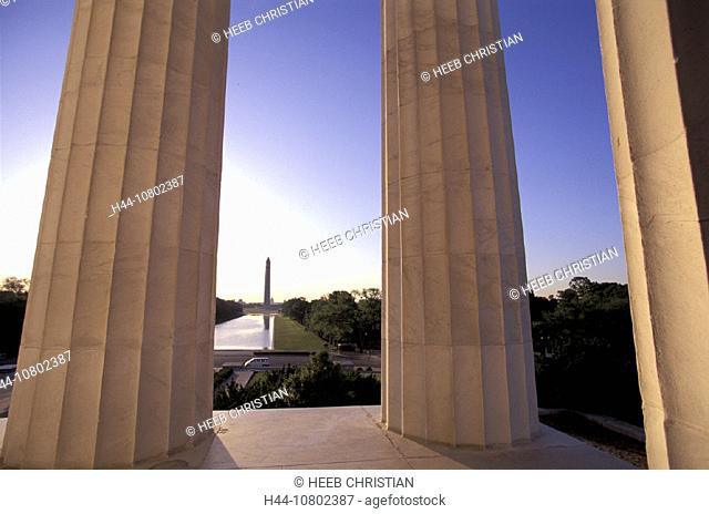 columns, District of Columbia, Lincoln Memorial, monument, USA, America, United States, Washington, Washington Memor