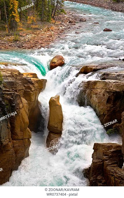 The rapid current of the falls
