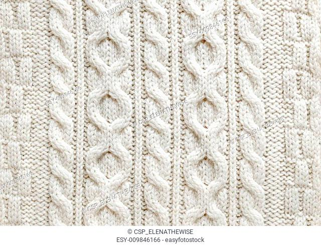 Cable knit fabric background