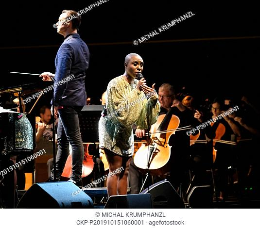 British singer Laura Mvula performs during her concert within the 23th Strings of Autumn festival in Prague, Czech Republic, on October 15, 2019