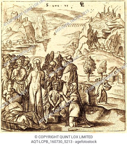 Léonard Gaultier (French, 1561 - 1641), Christ Heals the Sick, probably c. 1576-1580, engraving