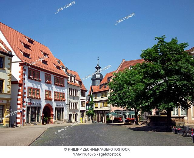 Central market place in Gotha, Thuringia
