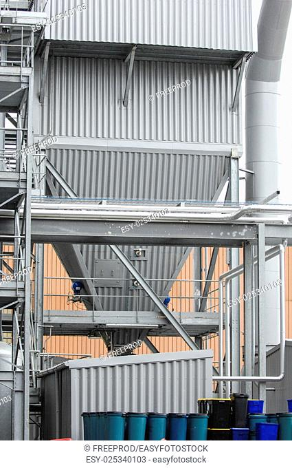 Storage tanks, chemical storage areas, waste recycling