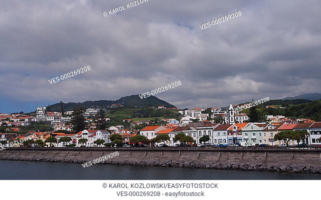 Cityscape of Horta on Faial Island, Azores, Portugal