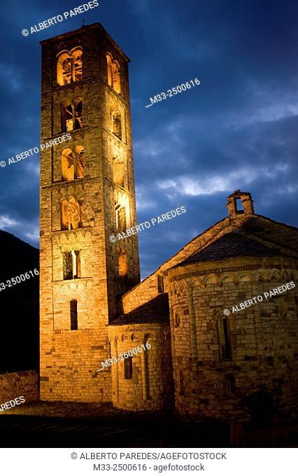 Sant Climent de Taull romanesque church. Taull, Vall de Boi, Lleida, Catalonia, Spain. Unesco World Heritage Site