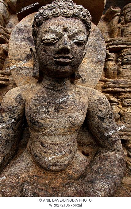 Statue in heritage Buddha excavated site , Ratnagiri , Orissa , India