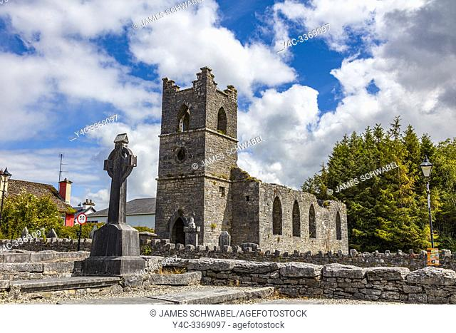 Ruins of the Cong Abbey also known as the Royal Abbey of Cong, in County Mayo Ireland