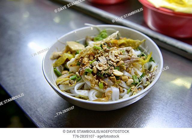 Mi Quang noodles, a specialty of Hoi An, Vietnam