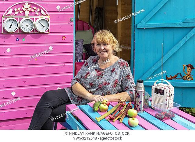 Plot 78 Doreen Kerr, Eglinton Growers Allotments, Kilwinning, Ayrshire, Scotland, UK