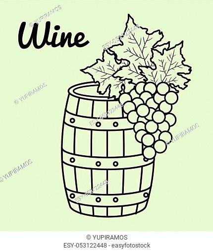 best wine barrel icon vector illustration design