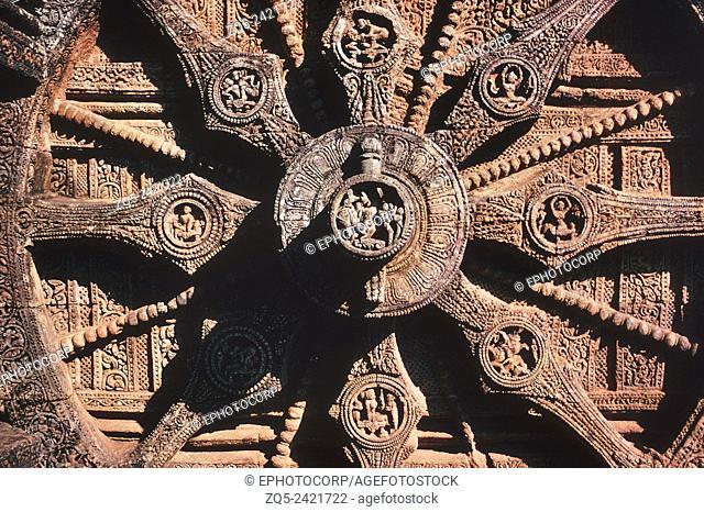 Fourth wheel from the south. Sun Temple, Konarak, India