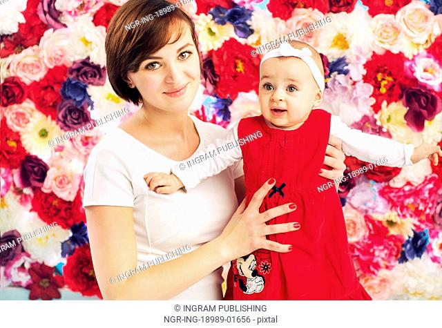 Pretty mom with cute baby
