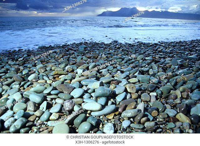 blue pebbles of Pengajawa Beach, Flores island, Lesser Sunda Islands, Republic of Indonesia, Southeast Asia and Oceania