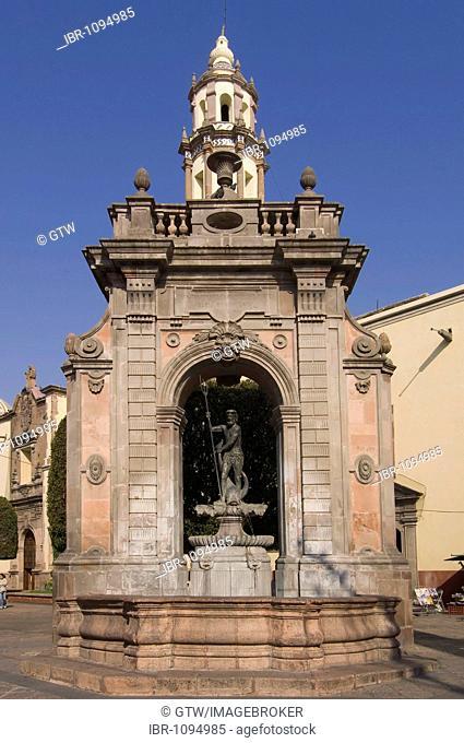 Neptune Fountain, historic town Santiago de Queretaro, UNESCO World Heritage Site, Province of Queretaro, Mexico