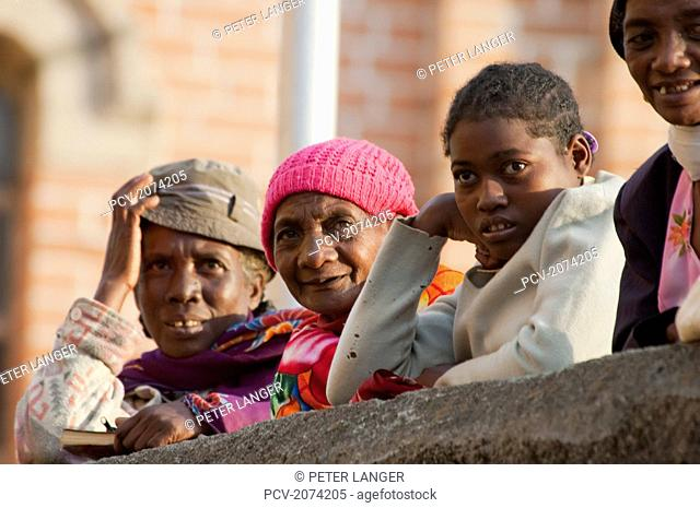 Women By Ambozontany Cathedral, Fianarantsoa, Madagascar