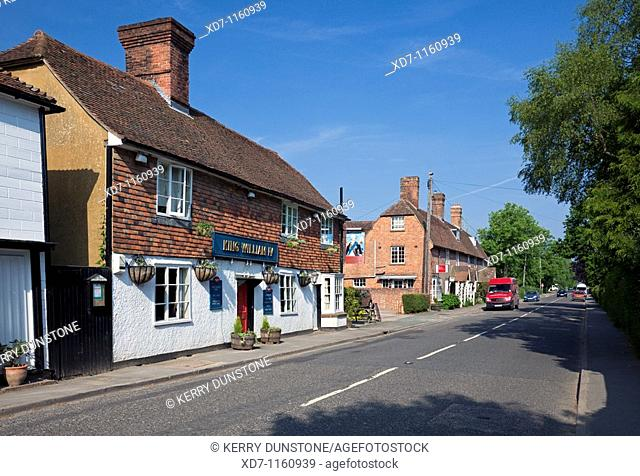 England Kent Benenden The Street and 'King William IV' Public House and houses