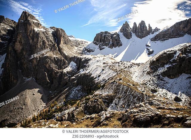 Dolomite Alps, Italy, Europe, Drei Zinnen area at Fall