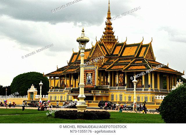 Chan Chhaya entrance, Royal Palace square, Phnom Penh, Cambodia