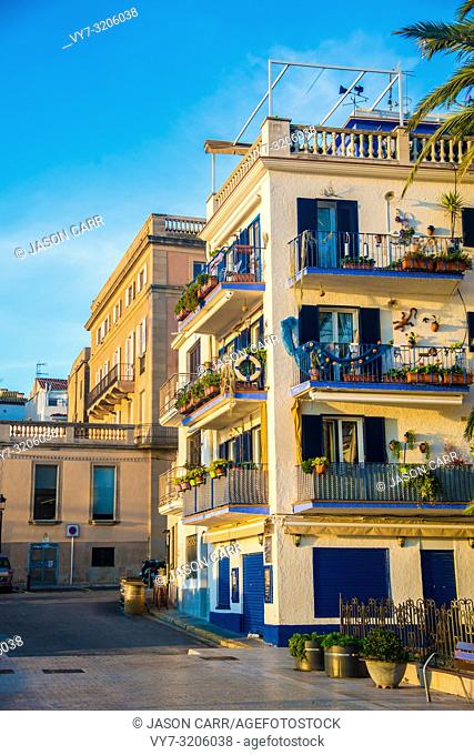 Spanish Beach Resort in Barcelona, Spain. Sitges area is known as a beach resort town