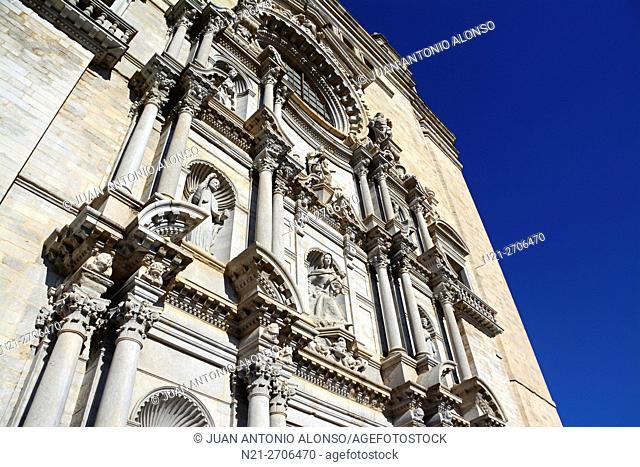 Catedral de Santa María de Girona. Girona, Catalonia, Spain, Europe