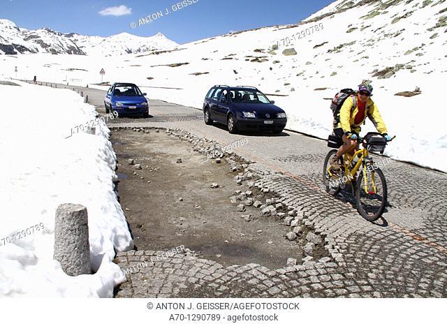 Road hole, Gotthard Pass, Switzerland