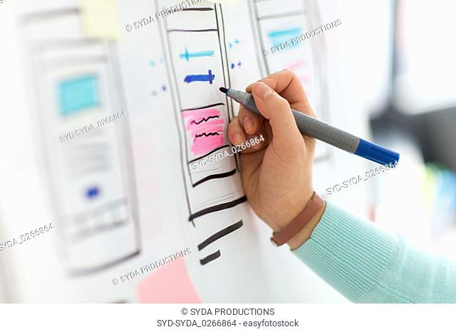 ui designer working on user interface at office