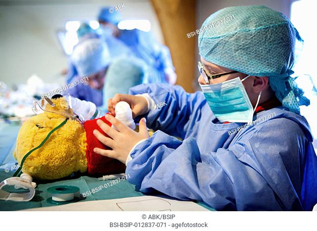 "Contact us before promotional use. Photo essay at the Teddy Bear Hospital of Limoges in France. The ""Teddy Bear Hospital"" is a public health project for 3-6..."