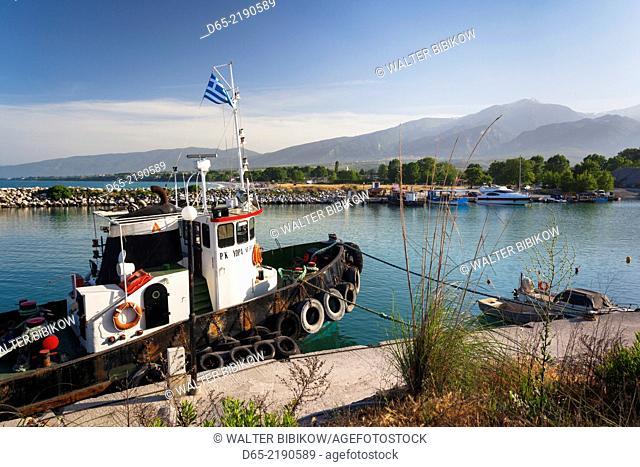 Greece, Central Macedonia Region, Litohoro, small port at Limani Litohoriou