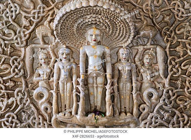 India, Rajasthan, Ranakpur, Jain temple