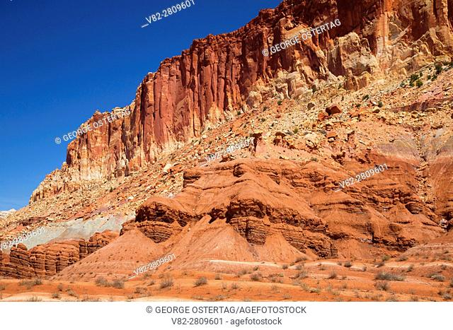 Cliff view from Scenic Drive, Capitol Reef National Park, Utah