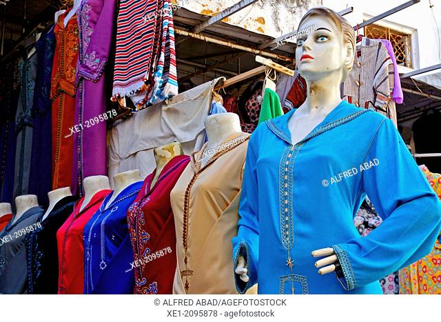 Mannequins, abayas, Assilah, Morocco