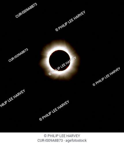 A solar eclipse seen in Romania